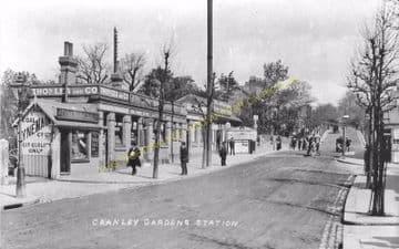 Cranley Gardens Railway Station Photo. Highgate - Muswell Hill. GNR. (14)