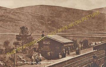 Crawford Railway Station Photo. Elvanfoot - Abington. Beattock to Lamington. (2)