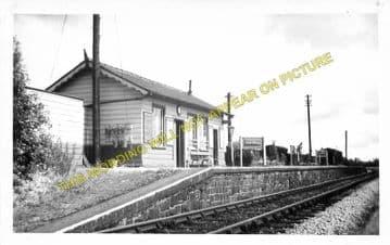 Credenhill Railway Station Photo. Hereford - Moorhampton. Hay Line. Midland. (3).