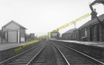 Creetown Railway Station Photo. Gatehouse of Fleet -Palnure. (1)