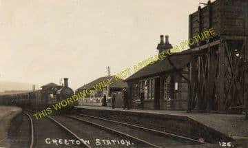 Creetown Railway Station Photo. Gatehouse of Fleet -Palnure. (2)