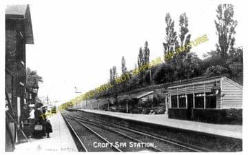 Croft Spa Railway Station Photo. Darlington - Eryholme. Northallerton Line. (1)