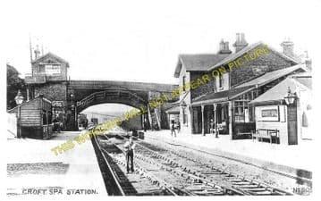 Croft Spa Railway Station Photo. Darlington - Eryholme. Northallerton Line. (3)