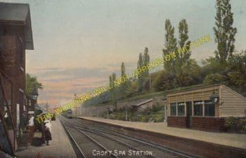 Croft Spa Railway Station Photo. Darlington - Eryholme. Northallerton Line. (5)