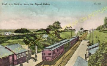 Croft Spa Railway Station Photo. Darlington - Eryholme. Northallerton Line. (8).