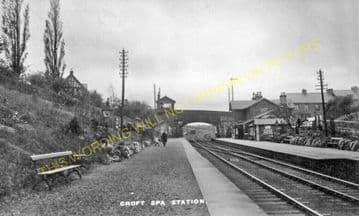 Croft Spa Railway Station Photo. Darlington - Eryholme. Northallerton Line. (9).