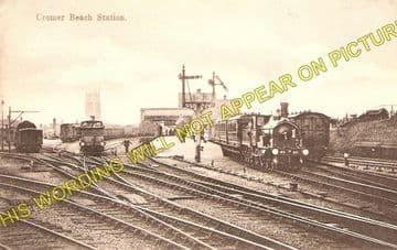 Cromer Beach Railway Station Photo. Sheringham Line. M&GNR. (1)