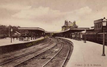 Cromer High Railway Station Photo. Great Eastern Railway. (14)
