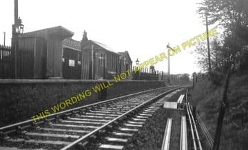 Crook of Devon Railway Station Photo. Rumbling Bridge - Balado. Kinross Line (2).