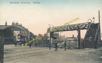 Crook Railway Station Photo. Beechburn - Tow Law. Rowley Line. North Eastern (4)