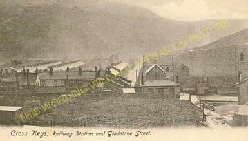 Cross Keys Railway Station Photo. Risca - Abercarn. Newport to Crumlin. GWR  (1)