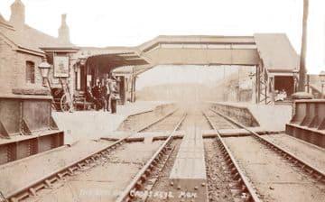Cross Keys Railway Station Photo. Risca - Abercarn. Newport to Crumlin. GWR  (4).