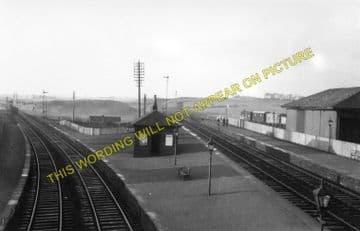 Crosshouse Railway Station Photo. Kilmarnock to Cunninghamhead & Springside (1)