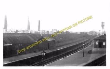 Crosshouse Railway Station Photo. Kilmarnock to Cunninghamhead & Springside (2)
