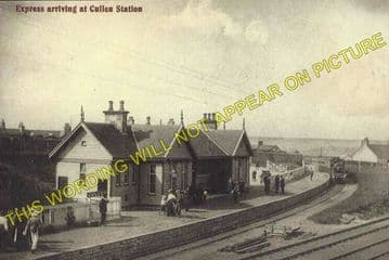 Cullen Railway Station Photo. Portknockie - Tochieneal. Buckie to Portsoy. (2)