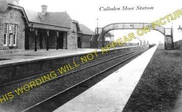 Culloden Moor Railway Station Photo. Inverness - Daviot. Aviemore Line. (1)