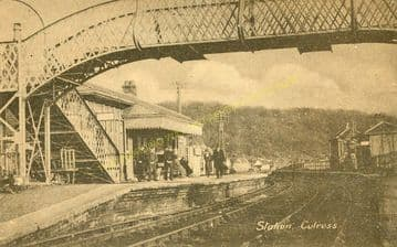 Culross Railway Station Photo. Torryburn - Kincardine. Dunfermline to Alloa. (4)