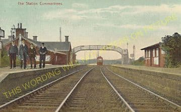 Cummertrees Railway Station Photo. Annan - Ruthwell. Gretna to Dumfries Line (2)