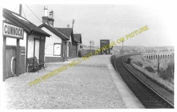 Cumnock Railway Station Photo. Cronberry - Dumfries House. Muirkirk Line. (1)..