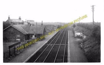 Cunninghamhead Railway Station Photo. Crosshouse - Montgreenan. Dalry Line. (1)