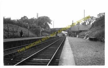 Cunninghamhead Railway Station Photo. Crosshouse - Montgreenan. Dalry Line. (2).