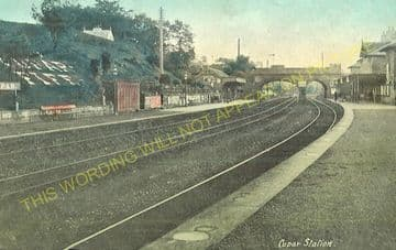 Cupar Railway Station Photo. Dairsie - Springfield. Leuchars to Ladybank. (5)