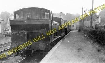 Cwm Mawr Railway Station Photo. Burry Port & Gwendraeth Valley Railway. (1).
