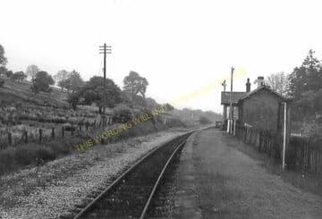 Cynghordy Railway Station Photo. Llanwrtyd Wells - Llandovery. Builth Line. (7).