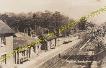 Daggons Road Railway Station Photo. Verwood - Fordingbridge. West Moors Line (10)