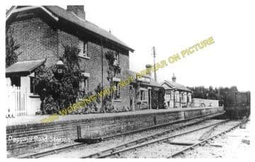 Daggons Road Railway Station Photo. Verwood - Fordingbridge. West Moors Line (6)