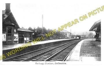 Dalbeattie Railway Station Photo. Southwick - Castle Douglas. (1)