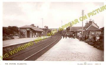 Dalbeattie Railway Station Photo. Southwick - Castle Douglas. (2)
