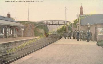 Dalbeattie Railway Station Photo. Southwick - Castle Douglas. (4)