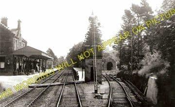 Dalmally Railway Station Photo. Tyndrum - Loch Awe. Crianlarich to Oban. (3)