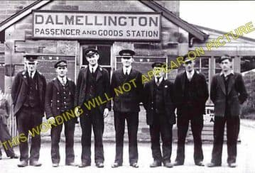 Dalmellington Railway Station Photo. Waterside, Patna, Holehouse Line. G&SWR (2)