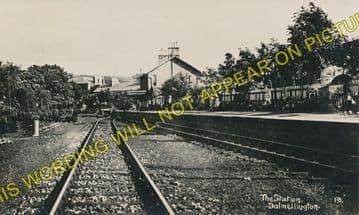 Dalmellington Railway Station Photo. Waterside, Patna, Holehouse Line. G&SWR (6)
