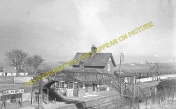 Dalrymple Railway Station Photo. Ayr - Cassillis. Girvan Line. G&SWR. (1).