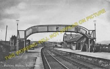 Dalwhinnie Railway Station Photo. Dalnaspidal - Newtonmore. Highland Railway (1)