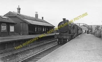 Darvel Railway Station Photo. Loudonhill - Newmilns. Kilmarnock Line. G&SWR (3)
