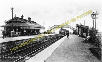Davidson's Main Railway Station Photo. Barnton - Craigleith. Edinburgh Line. (1)