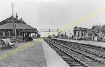 Davidson's Main Railway Station Photo. Barnton - Craigleith. Edinburgh Line. (2)