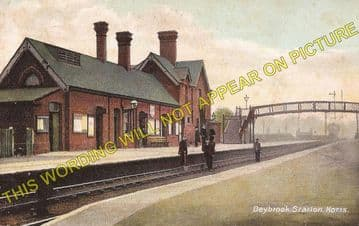 Daybrook Railway Station Photo. Bulwell to Sherwood and Gedling Lines. GNR. (7)