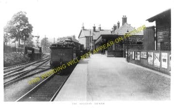 Denny Railway Station Photo. Larbert and Falkirk Lines. Caledonian Railway (3)