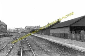 Denny Railway Station Photo. Larbert and Falkirk Lines. Caledonian Railway (6)