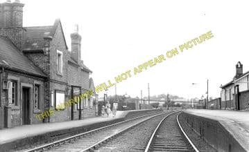 Desford Railway Station Photo. Bagworth & Ellistown to Ratby & Kirby Muxloe. (1)