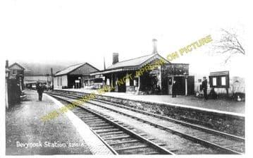 Devynock & Sennybridge Railway Station Photo. Cray - Aberbran. (1)..