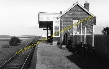 Dirleton Railway Station Photo. Drem - North Berwick. North British Railway (1)..