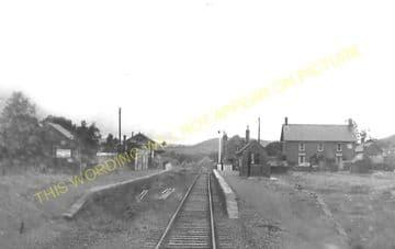 Dolau Railway Station Photo. Penybont - Llangunllo. Builth to Knucklas Line. (6)