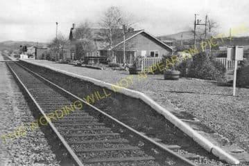 Dolau Railway Station Photo. Penybont - Llangunllo. Builth to Knucklas Line. (9)