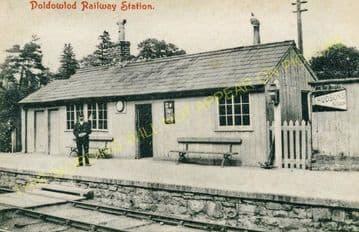 Doldowlod Railoway Station Photo. Newbridge - Rhayader. Builth to Moat Lane (4)
